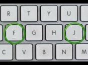 কি বোর্ডে 'F' ও 'J'-র উপরে উঁচু দাগ থাকে কেন জানেন কি? জেনে নিন