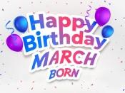 মার্চ মাসে জন্মেছেন? দেখে নিন মার্চ মাসে জন্মগ্রহণকারীদের ব্যক্তিত্বের বৈশিষ্ট্য