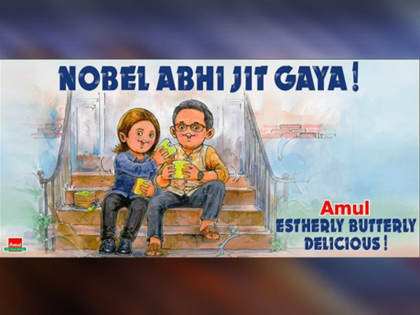 amul special tweet about nobel winners