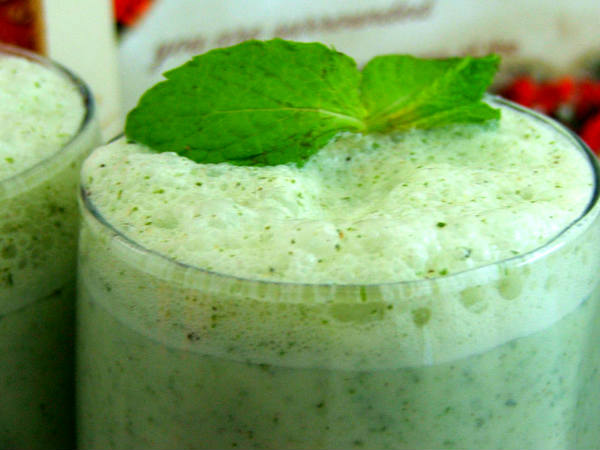 mint lassi recipe