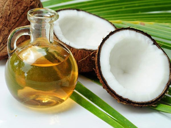 B) Castor oil and coconut oil