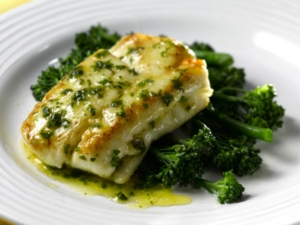 Pan Fried Crust Salmon Fish With Herb Butter Lime Sauce Recipe