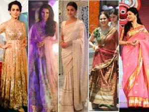 Kangana To Anushka Some Bollywood Beauties In Traditional Look