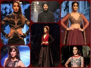 Bollywood Celebraties At Lakme Fashion Week 2016 Winter Festval