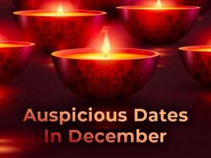 Auspicious Dates In December