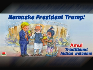 Amul Welcomes Donald Trump With A Caricature