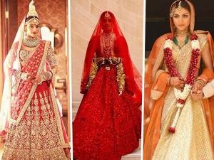Bollywood Actress Wore Sabyasachi Mukherjee Bridal Lehenga On Their Wedding Day