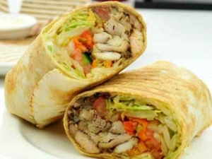 Chicken Shawarma Roll Recipe